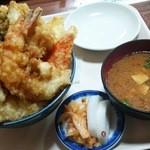 大松屋食堂 - 1512_大松屋食堂_天丼(並)@1,000円(豚汁セット)