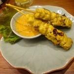 45581223 - 「鶏肉の串焼き(ガイ・サテ)」(1P 280円、オーダーは2Pから)