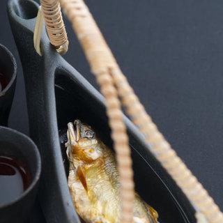 岩魚(イワナ)の骨酒