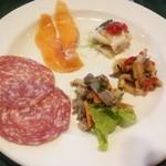 リストランテ トレンティーノ - ランチセット前菜盛り合わせ
