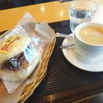 45584341 - みしまコロッケぱんとカフェオレ