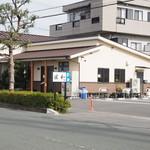 45587008 - 店舗入口と駐車場
