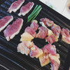 三瀬山荘ぢどり屋 - 料理写真:肉めっちゃキレーでおいし過ぎ!!!