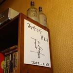 みやこや - みやこや(東京都中野区鷺ノ宮)松重豊さんのサイン