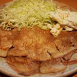 みやこや - みやこや(東京都中野区鷺ノ宮)ロ-スにんにく焼定食900円