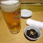 呑処おか吉 - 「生ビール」と「お通し」