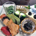 湯倉温泉 鶴亀荘 - 前菜(2010年7月)