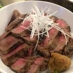 肉と葡萄酒 跳牛 - 牛たん丼 1,200円 2015.12