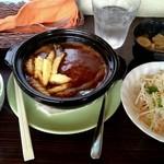 洋食の太陽 - 煮込みハンバーグ定食1250円