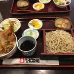 大村庵 - 料理写真:天丼セットランチ950円