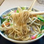 水明亭 - ムチムチの中太麺