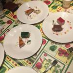 ジーザとローザ - デザートは色んな種類があります。
