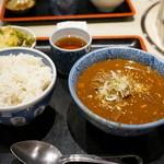 たん清 - 2015.12 タンシチュー(1,000円)麦飯大盛り