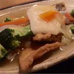 45609616 - カレイ唐揚げ野菜あんかけ定食  850円