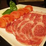 45609884 - 名物「トマトすき焼き(登録商標)」和牛100g