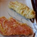 金比羅製麺 - とり天&紅生姜天