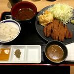 牛カツ専門店 京都勝牛 - 「牛ロースカツ京玉膳」(ご飯お代わり自由)