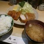 丸一 - ロースカツ定食(1100円)2015年12月