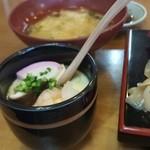 尚鮨 - 味噌汁と茶碗蒸し