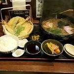 丹波 - 天婦羅掛け蕎麦定食蕎麦大盛り