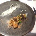 レストラン マノワ - 海老のマリネとレモングラスのムース ゆずの香り(2015.11)