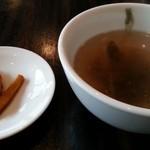 45637211 - ランチ スープと漬物 2015.12