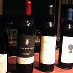 バッカナール - 赤ワインをボトルで選びます