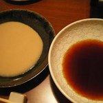 白金ひづき - フォアグラごまダレ&ぽん酢