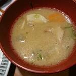 45640101 - 替とん(豚汁) 肉はトロトロ♡角煮の切れ端のような溶け方です♡