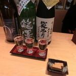 名酒センター - このセットで1250円 つまみは豆腐の醤油漬け