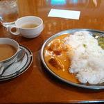 45641290 - スープ、チャイ、ダブルカレーライス