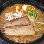 おかざき商店 - 三河味噌ラーメン810円 チャーシュー2枚&味玉つき