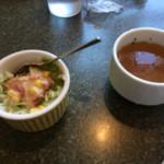 45649399 - ランチ サラダ、スープ