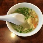 ニュー上海 - セットの卵スープ