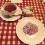 ビストロ フォンテーヌ - ランチ デザート ブルーベリーのムース