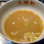 大阪 大勝軒 神山 - スープ割り