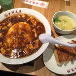 大阪王将 - フワトロはヤバイって。 麻婆もちゃんと山椒の味がしてきちんと作った感があります