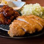 きんのつる - 特製チキン南蛮&ロースカツ定食