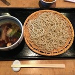 Naniwaokina - 赤穂坂越産 かきざるそば 1700円+十割りそば 200円(税込)