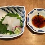 Naniwaokina - はりいか造り (淡路) 650円(税込)