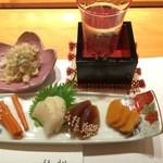 鮨 割烹 福松 - 待ち合わせまでにでた、御新香、いいでしょう