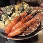 かき小屋 - 焼牡蠣/焼はまぐり/焼帆立貝/焼海老食べ放題!