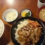 佐原屋 - 豚肉生姜焼定食