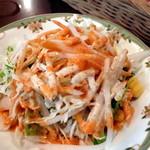 シブシャンカル - 「食の秋キャンペーン」マライティッカ・シークカバブセット(¥1080)サラダ