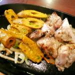 シブシャンカル - 「食の秋キャンペーン」マライティッカ・シークカバブセット(¥1080)マライティッカ&シークカバブ。ジュウジュウと食欲をそそる音です♪