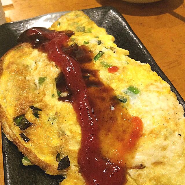 上州屋酒店 いこい - ニラ玉⁉️ ふわふわで美味い(^_^)