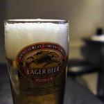 住吉町立ち呑みばる平八郎 - 生ビール(せんべろセット)