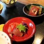 45665577 - 7サーモン味噌漬け~  8京丹波ジビエ(鹿)~