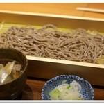庄吉 - 鴨つけそば(平打ち麺)