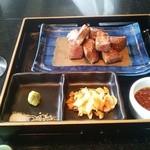 鉄板焼 やまなみ - 鉄板焼の牛肉